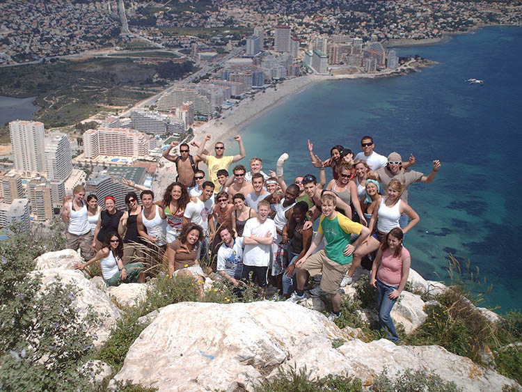 students during one of our activity in Valencia