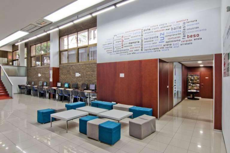 The inside of our school AIP Language Institute