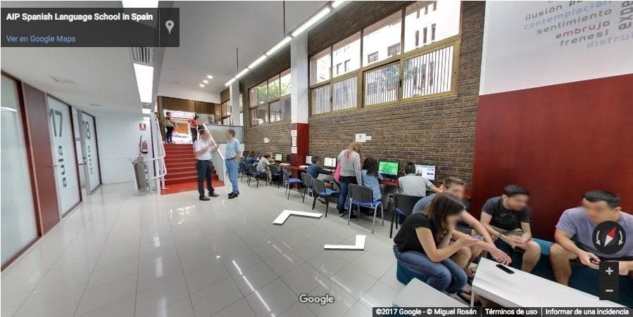 the inside of AIP Language Institute